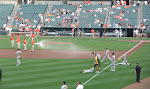 before each game they hose down the opposing team
