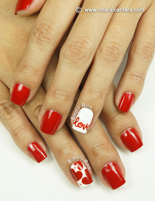 Love Nail Art Design