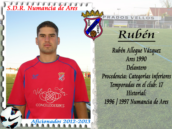 ADR Numancia de Ares. Rubén.