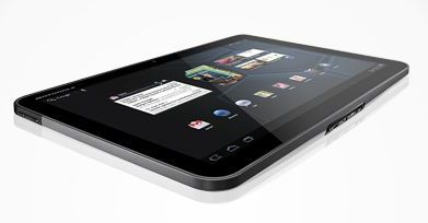 Motorola Xoom tablet - side view