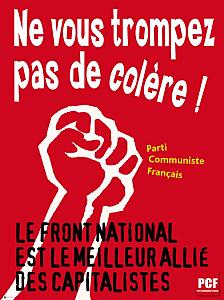 Pierre Laurent démasque l'imposture sociale du FN dans Cantonales 2011 Affiche-Anti-FN