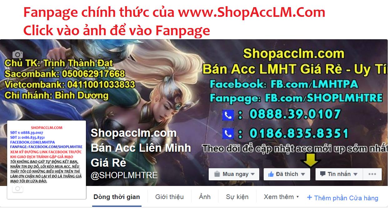 Fanpage ShopAccLM
