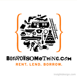 BorrowSomething.com logo design U.S.A.