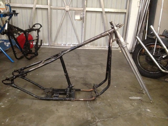 Marvelous Like Most Old Chopper Frames It Needs Some Love, Would Prefer Local Sale In  SoCal. Might Throw In The Extended 45 Back Leg In The Pic.