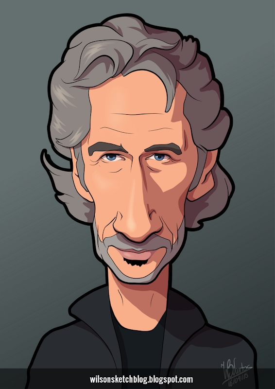 Cartoon caricature of Roger Waters.
