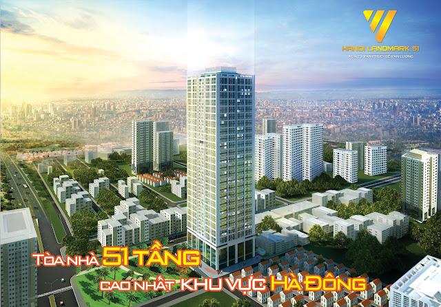 Phối cảnh chung cư hanoi landmark 51