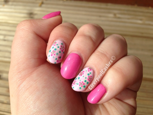Liverpoollashes beauty blog nail of the day shellac with nail art prinsesfo Choice Image