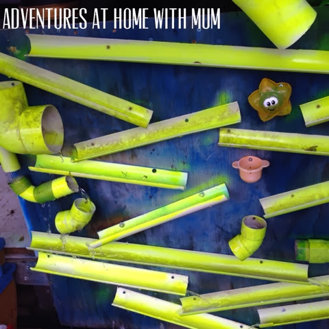Adventures At Home With Mum Outdoor Pvc Pipe Water Wall