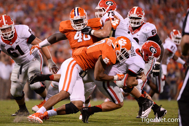Georgia at Clemson Photos - 2013, Football, Georgia, Vic Beasley