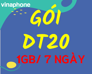 Gói cước DT20 VinaPhone siêu rẻ, tốc độ cao 1GB miễn phí trong 7 ngày