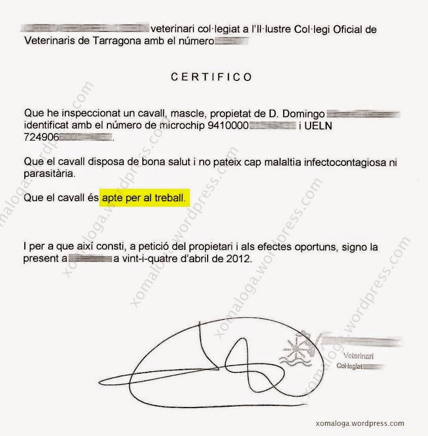 Certificado Aptitud Certificado de Aptitud de