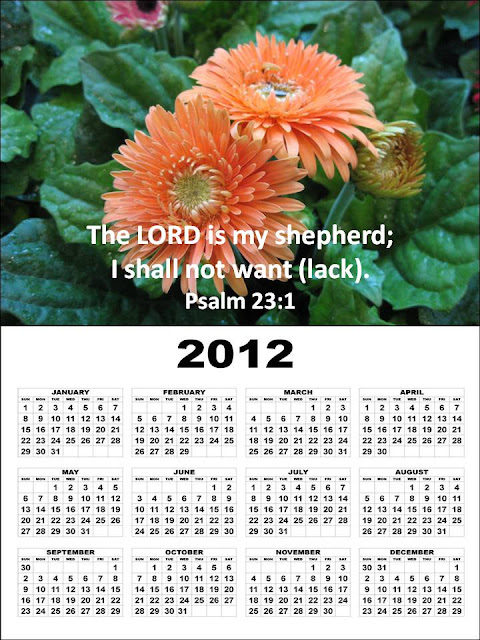 january calendar 2012. 2012 Calendar with Bible