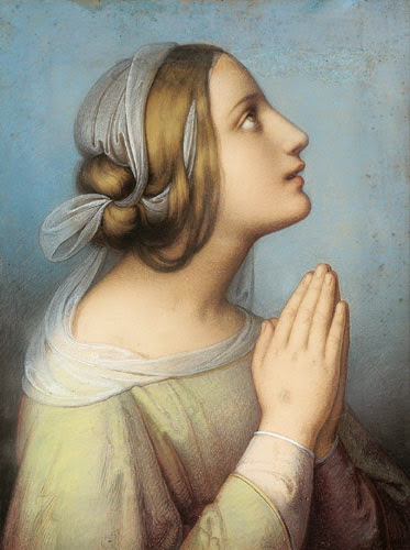 Marie Ellenrieder - Praying woman