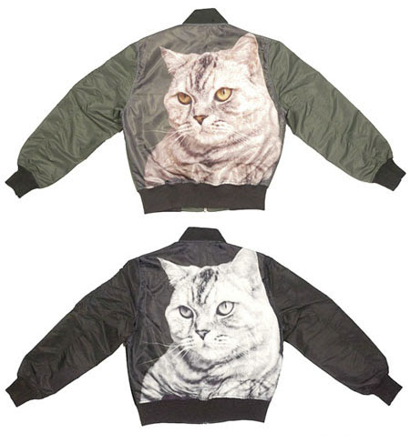 Catsparella: I Can Has: Cat Bomber Jackets By MadeMe