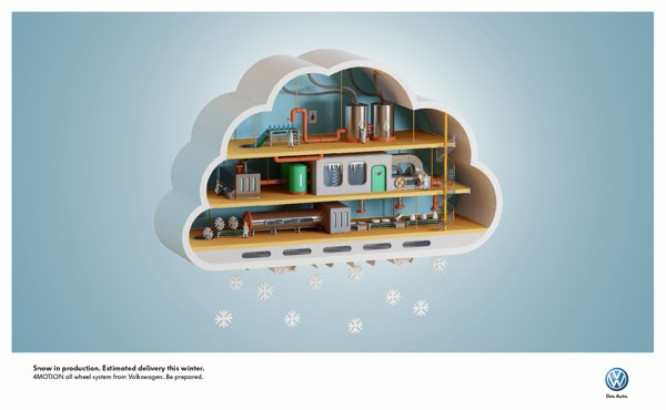 "Volkswagen VW ""Winter Is Coming"" Print Ads"