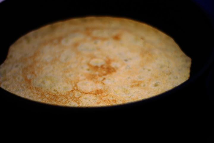 Fyldte majspandekager med hvidkål