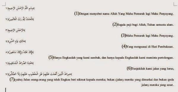 Ayat Al Qur'an di LibreOffice Writer