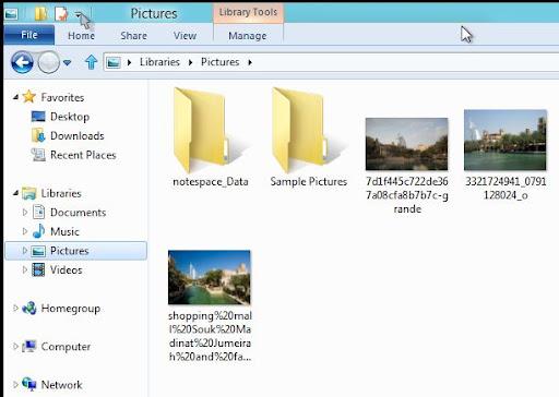 Windows 8 Explorer Ribbon minimised