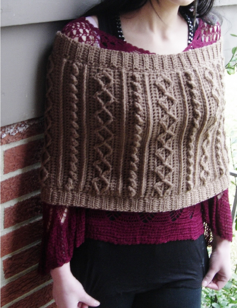 a6eb9a2224397 Positively Crochet!  Cabled Cowl - 7 Patterns in One! - For Sale