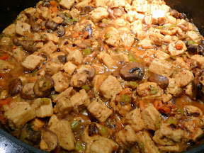 making chicken fricassee, after 30 minutes or so of simmering