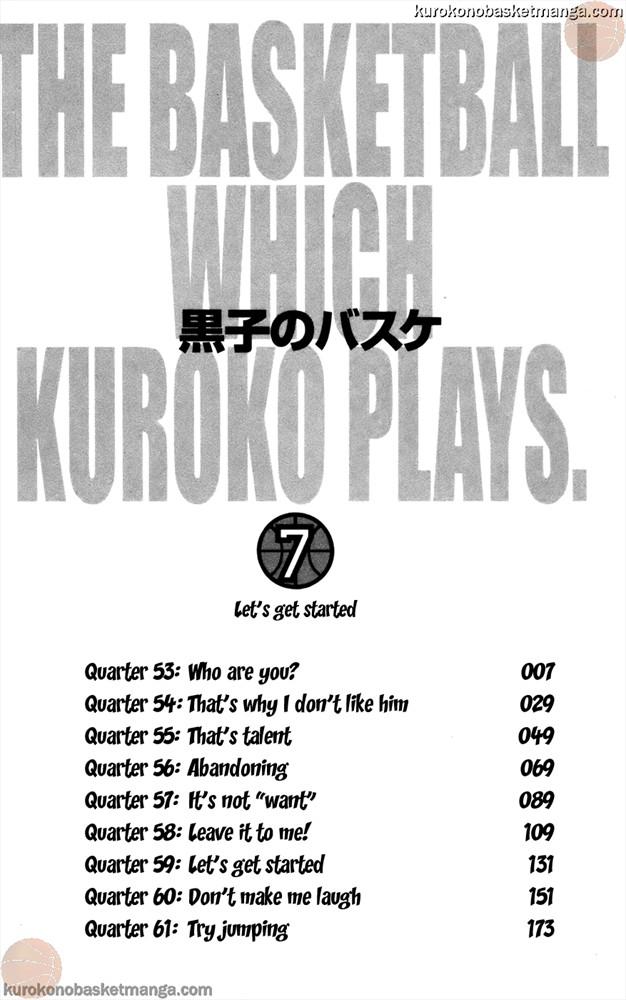 Kuroko no Basket Manga Chapter 53 - Image 0/006