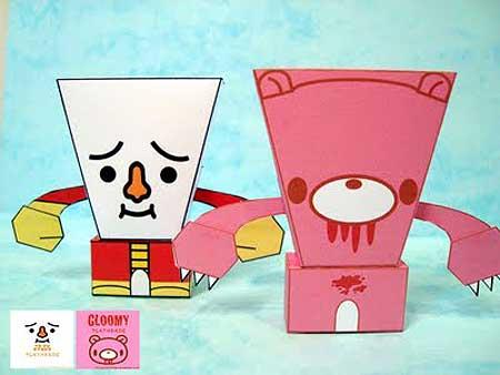 Tofu Oyako Papercraft