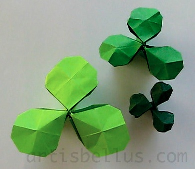st patricks day shamrock new origami model and video