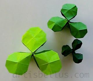 St Patrick's Day - Shamrock - New Origami Model and Video