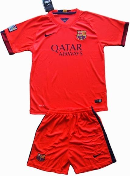 Jual Jersey Kids Barcelona Away 2014-2015