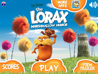 Lorax in iPad game play
