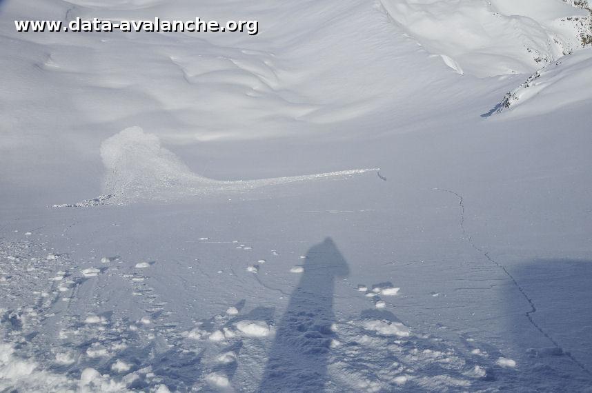 Avalanche Ubaye, secteur Tête de Villadel - Photo 1