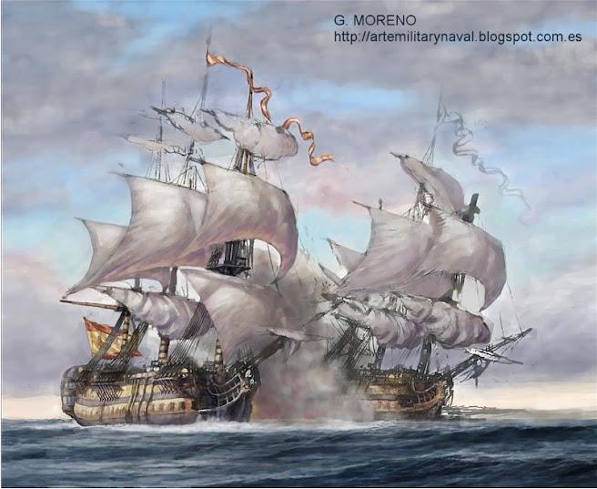 combate naval del XVIII