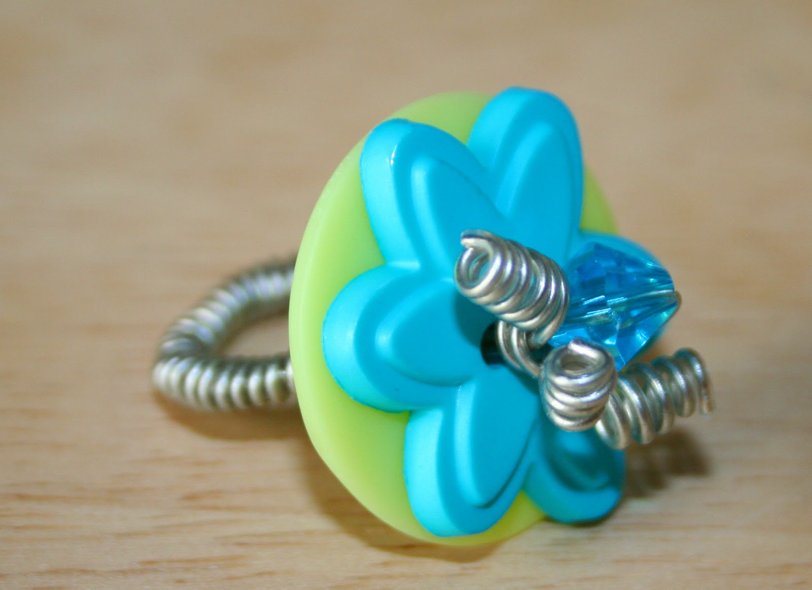 Vitamin C... A Daily Dose of Creativity: Button Ring Tutorial, Craft ...