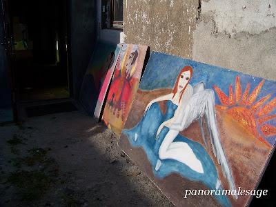 obraz Panorama LeSage Anna Grabowska malarstwo Darłowo Sławno