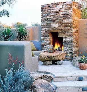 Fauna decorativa chimenea de exterior outdoor fireplace - Chimenea de exterior ...