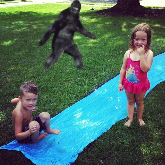 Bigfoot on the slipe n slide