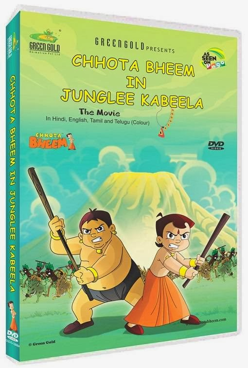 Poster Of Chhota Bheem In Junglee Kabeela (2013) Full Movie Hindi Dubbed Free Download Watch Online At Alldownloads4u.Com