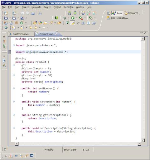 Desarrollo de aplicación de facturación en 15 minutos con openxava 2