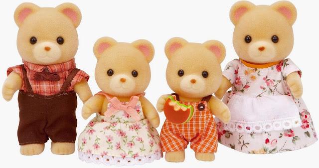 Gia đình nhà gấu 4 người Bear Family 3150 với bộ lông vàng và khuôn mặt tròn trĩnh đáng yêu