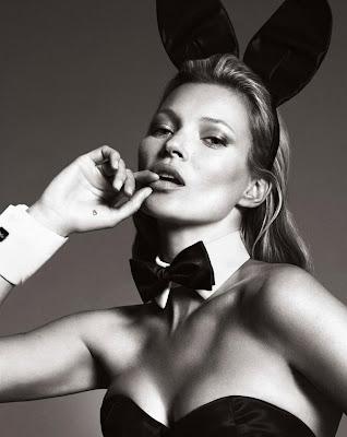 #Playboy 60周年紀念刊:獻上 Kate Moss 兔女郎造型封面 4