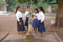 We are cleaning wells in Cambodia