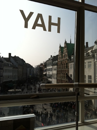 Hay House overlooks Strøget, the main commercial street in Copenhagen.