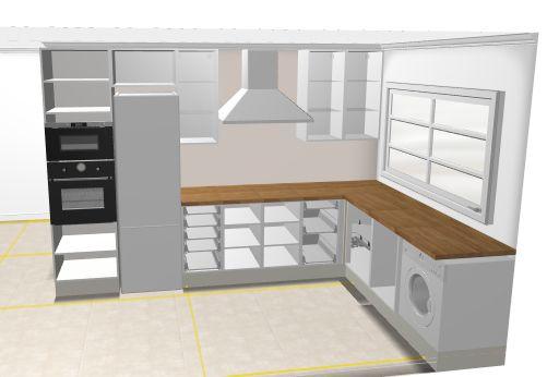 Kuchnie z IKEA  opinie, zdjęcia, montaż etc  Wnętrza   -> Kuchnie Rogowe Ikea