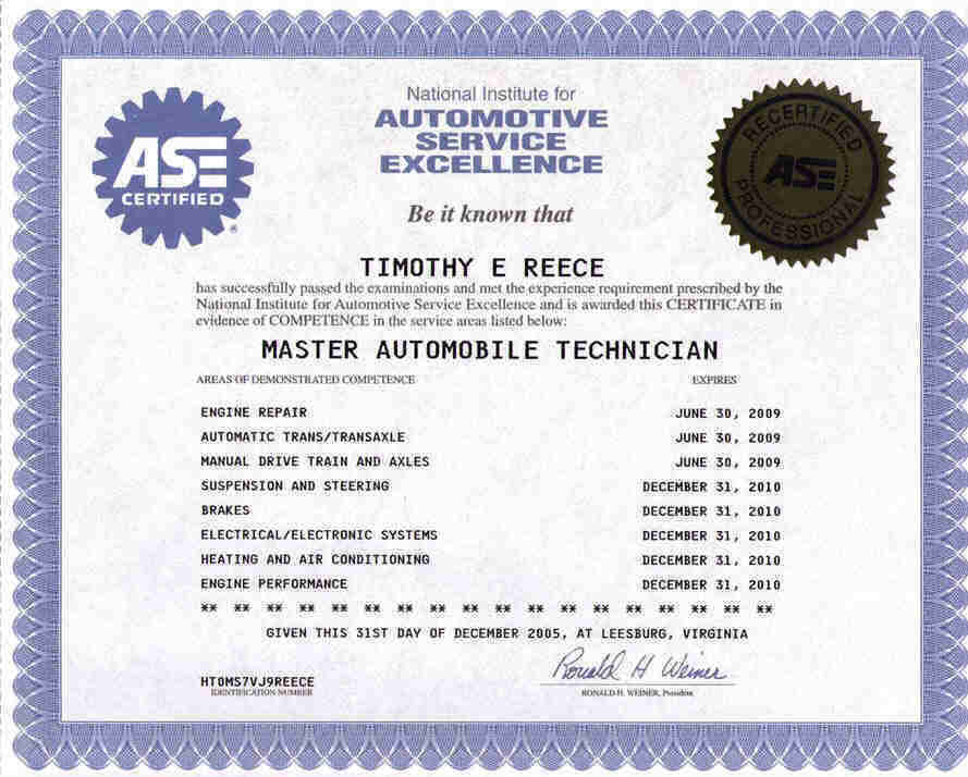 8 ase certifications gallery editable certificate template for Fake ase certificate template
