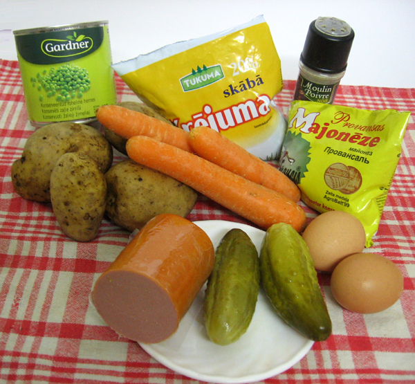 Recipe - Latvian potatoe and sausage salad rasols