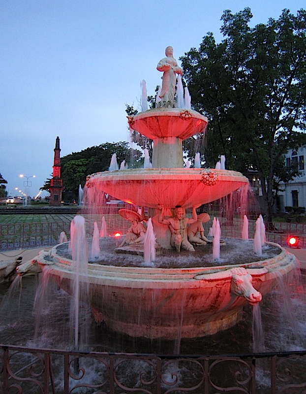 Pamulinawen Fountain at the Aurora Park in Laoag, Ilocos Norte