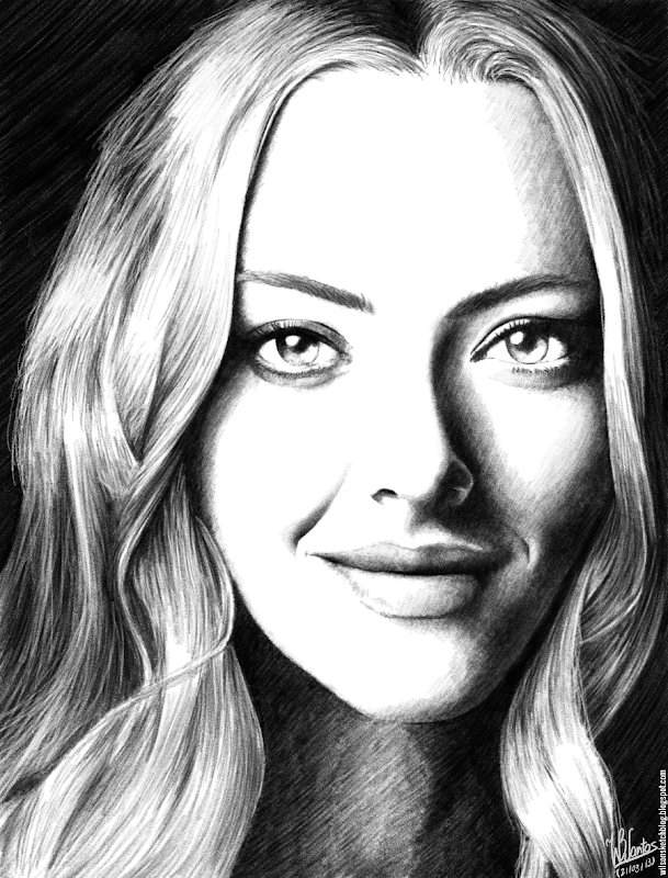 Pencil drawing of Amanda Seyfried, using Krita 2.7 Alpha.