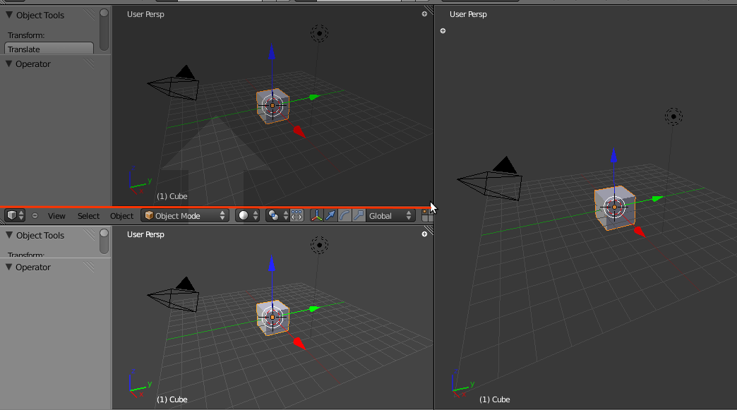 Split dan Join Area di Blender 2.5 3