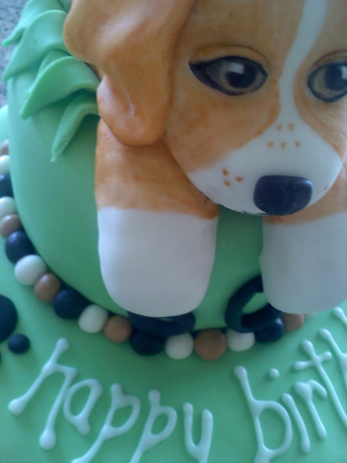 Beagle Edible Birthday Cakes