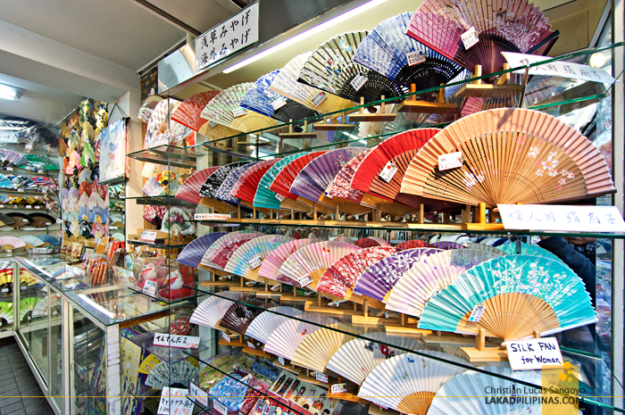 Folding Fans at Asakusa's Nakamise Shopping Street